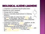 biological alkene limonene