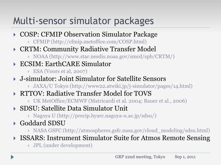 Multi sensor simulator p ackages