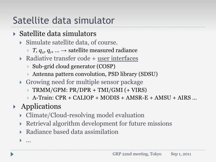 Satellite data simulator