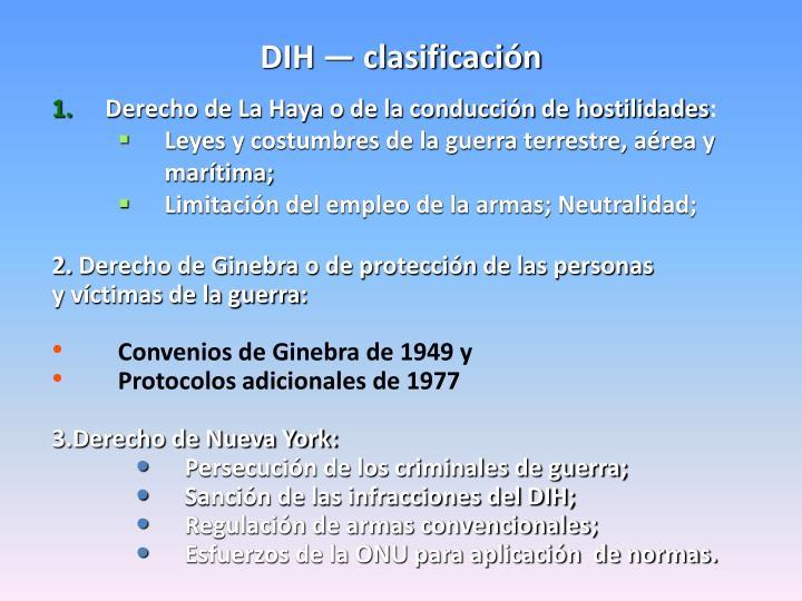 DIH — clasificación