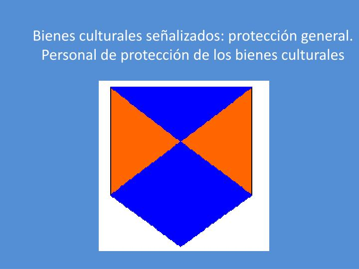 Bienes culturales señalizados: protección general.