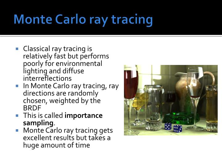 Monte Carlo ray tracing