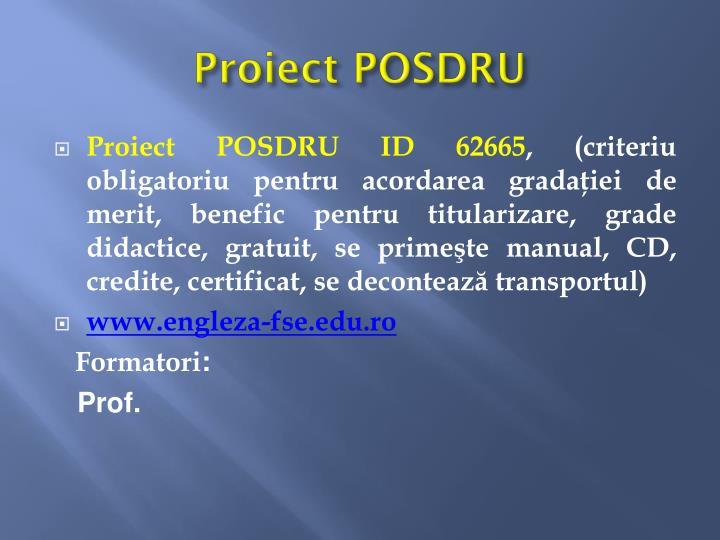 Proiect POSDRU