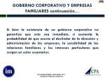 gobierno corporativo y empresas familiares continuaci n
