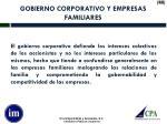 gobierno corporativo y empresas familiares