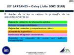 ley sarbanes oxley julio 2002 eeuu