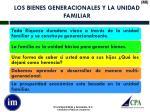 los bienes generacionales y la unidad familiar