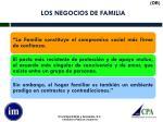 los negocios de familia