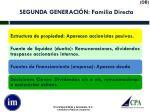segunda generaci n familia directa