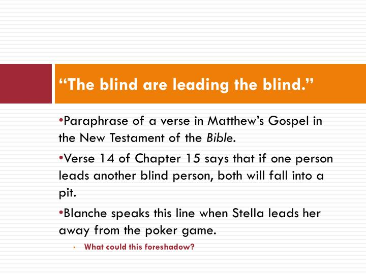 """The blind are leading the blind."""