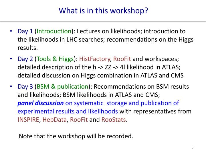 What is in this workshop?