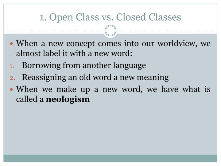 1 open class vs c losed c lasses