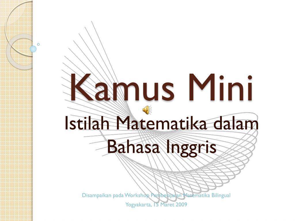 Ppt Kamus Mini Powerpoint Presentation Free Download Id 2056358
