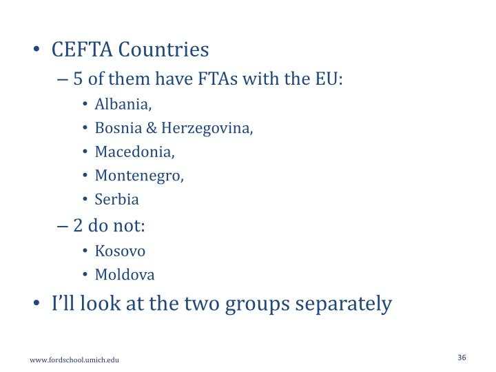 CEFTA Countries