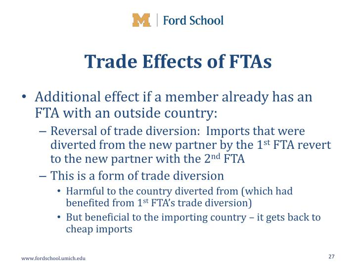 Trade Effects of