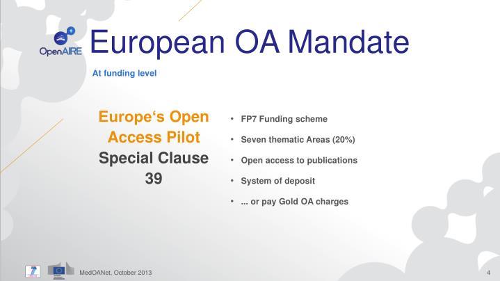 European OA Mandate