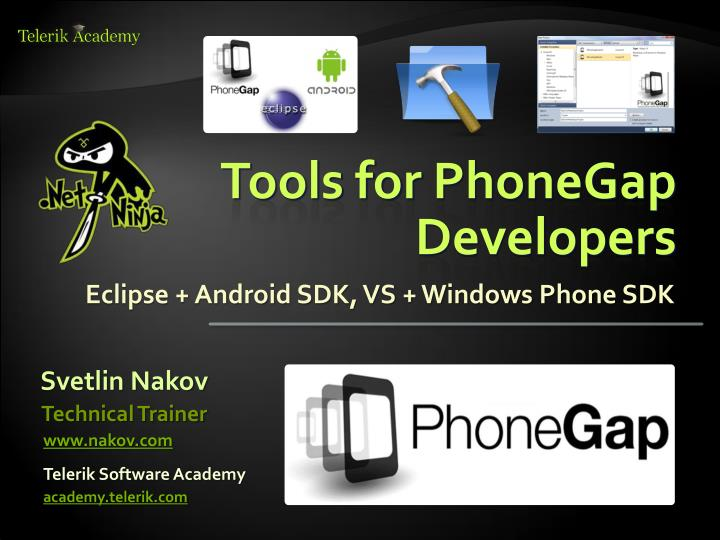 tools for phonegap developers n.
