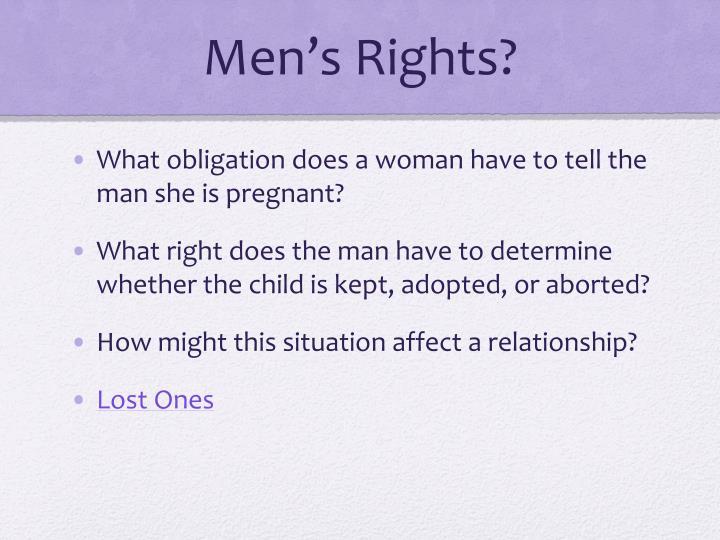Men's Rights?