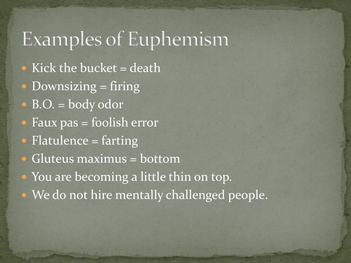 Ppt Euphemism Powerpoint Presentation Id 2056831