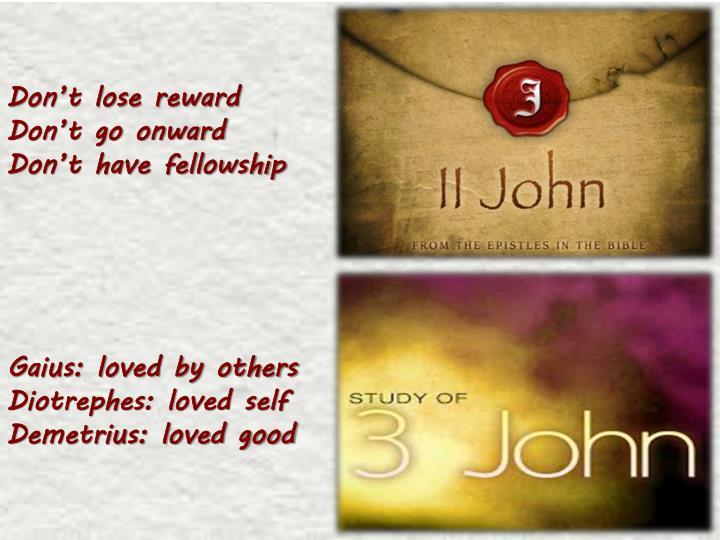 Don't lose reward