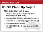 whois clean up project