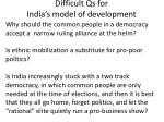 difficult qs for india s model of development