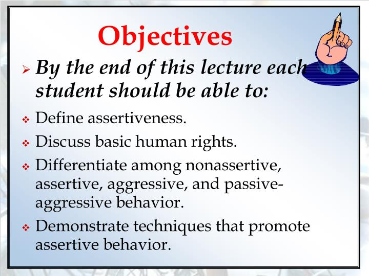 Non assertive behavior definition