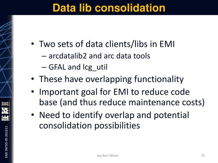 Data lib consolidation