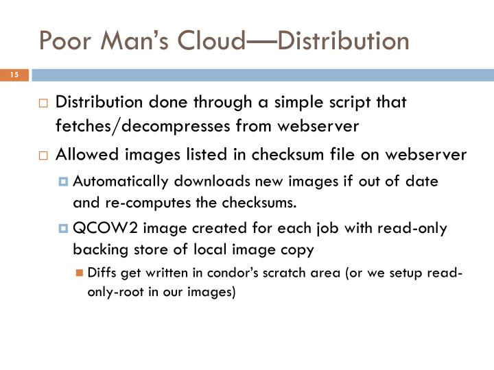 Poor Man's Cloud—Distribution