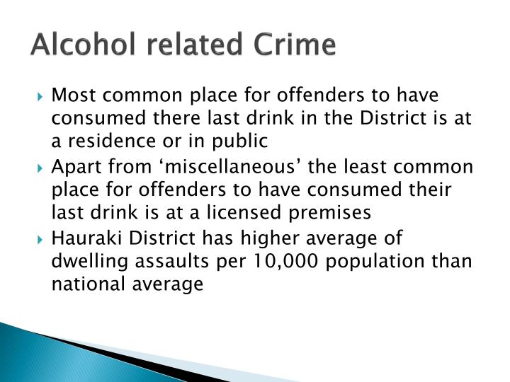 Alcohol related Crime