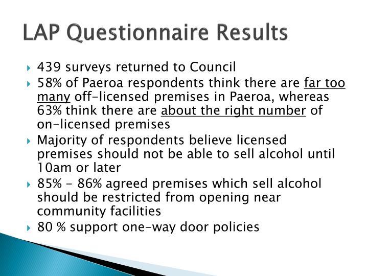 LAP Questionnaire Results