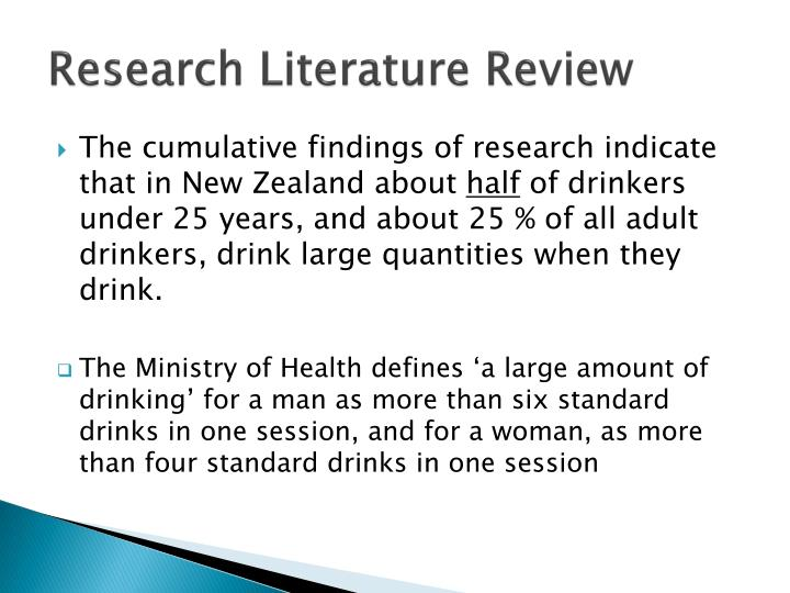 Research Literature Review