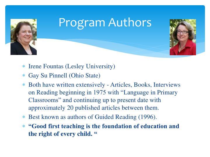Program authors