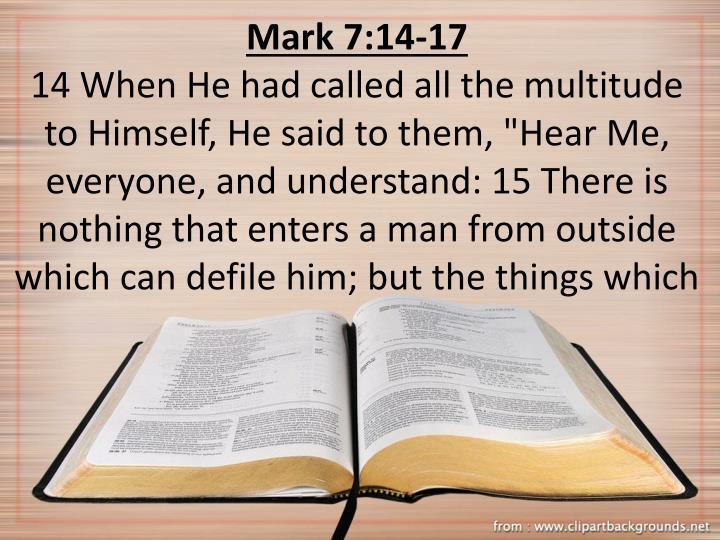 Mark 7:14-17