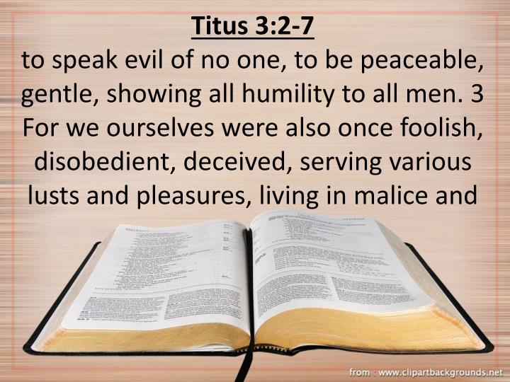 Titus 3:2-7