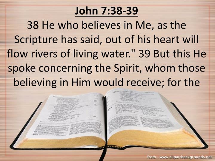 John 7:38-39