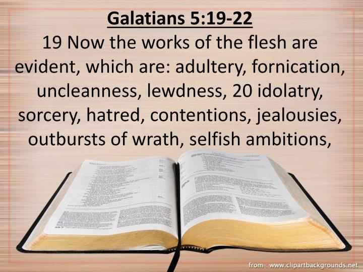 Galatians 5:19-22