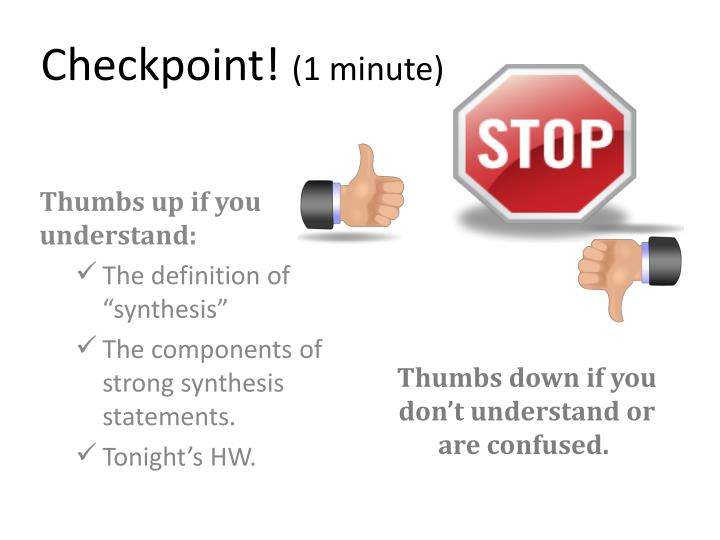 Checkpoint!