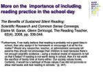 more on the importance of including reading practice in the school day