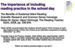 the importance of including reading practice in the school day1