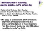 the importance of including reading practice in the school day2
