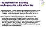 the importance of including reading practice in the school day3