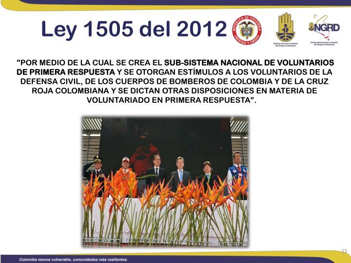 Ley 1505 del 2012