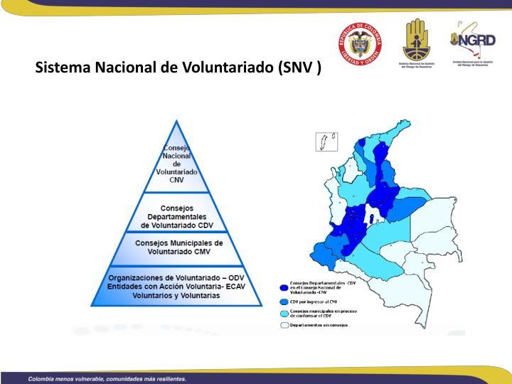 Sistema Nacional de Voluntariado (SNV