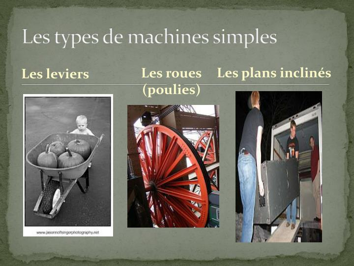 Les types de machines simples