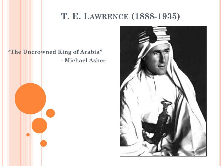 t e lawrence 1888 1935 n.
