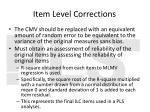 item level corrections1