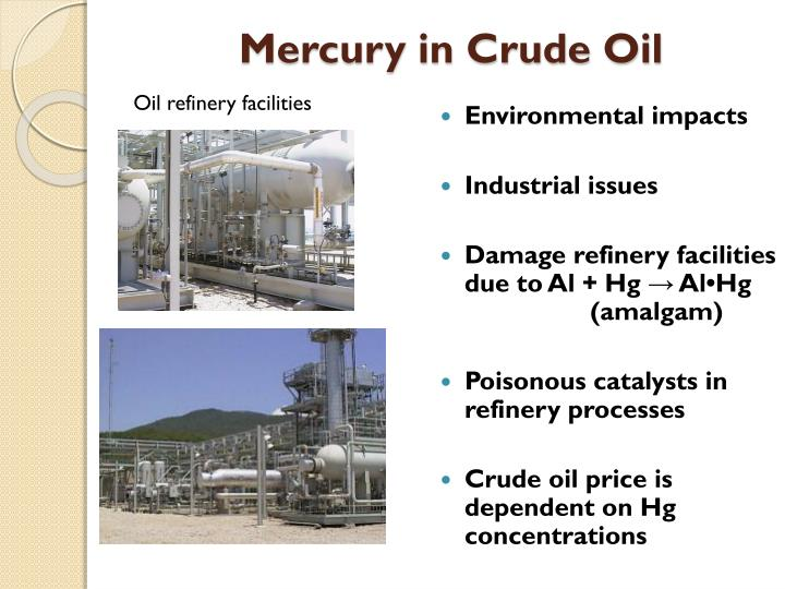 Oil refinery facilities