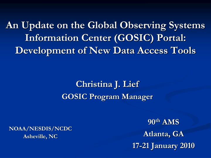 An Update on the Global Observing Systems