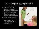 assessing struggling readers